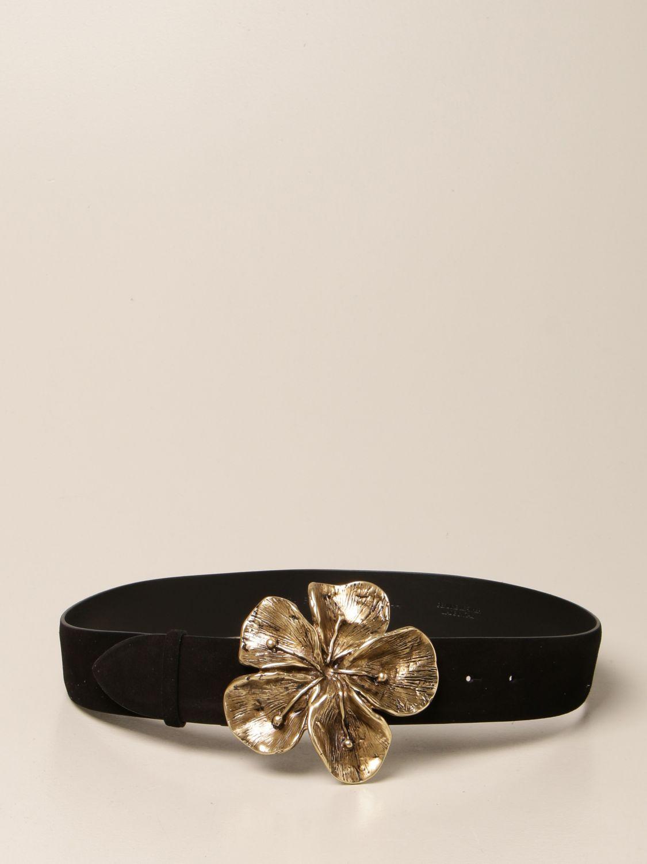 Cintura con fibbia floreale alberta ferretti