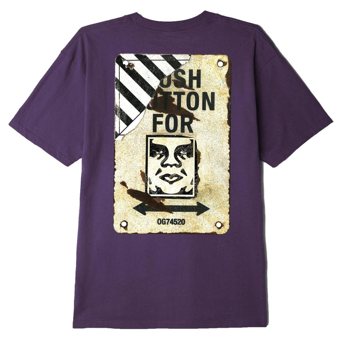 T-Shirt Obey Crosswalk Sign Purple
