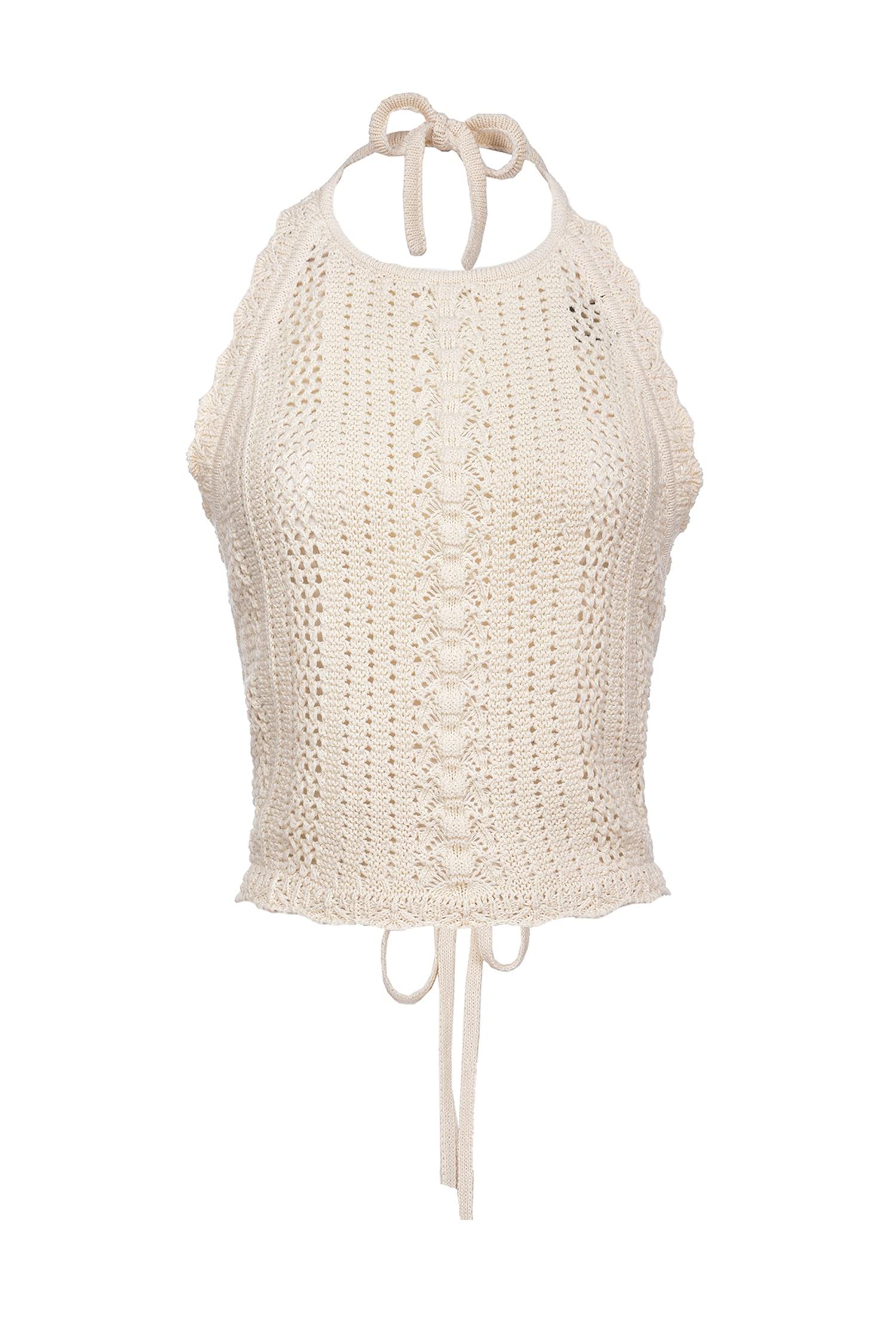 Top Bocce in cotone crochet Pinko