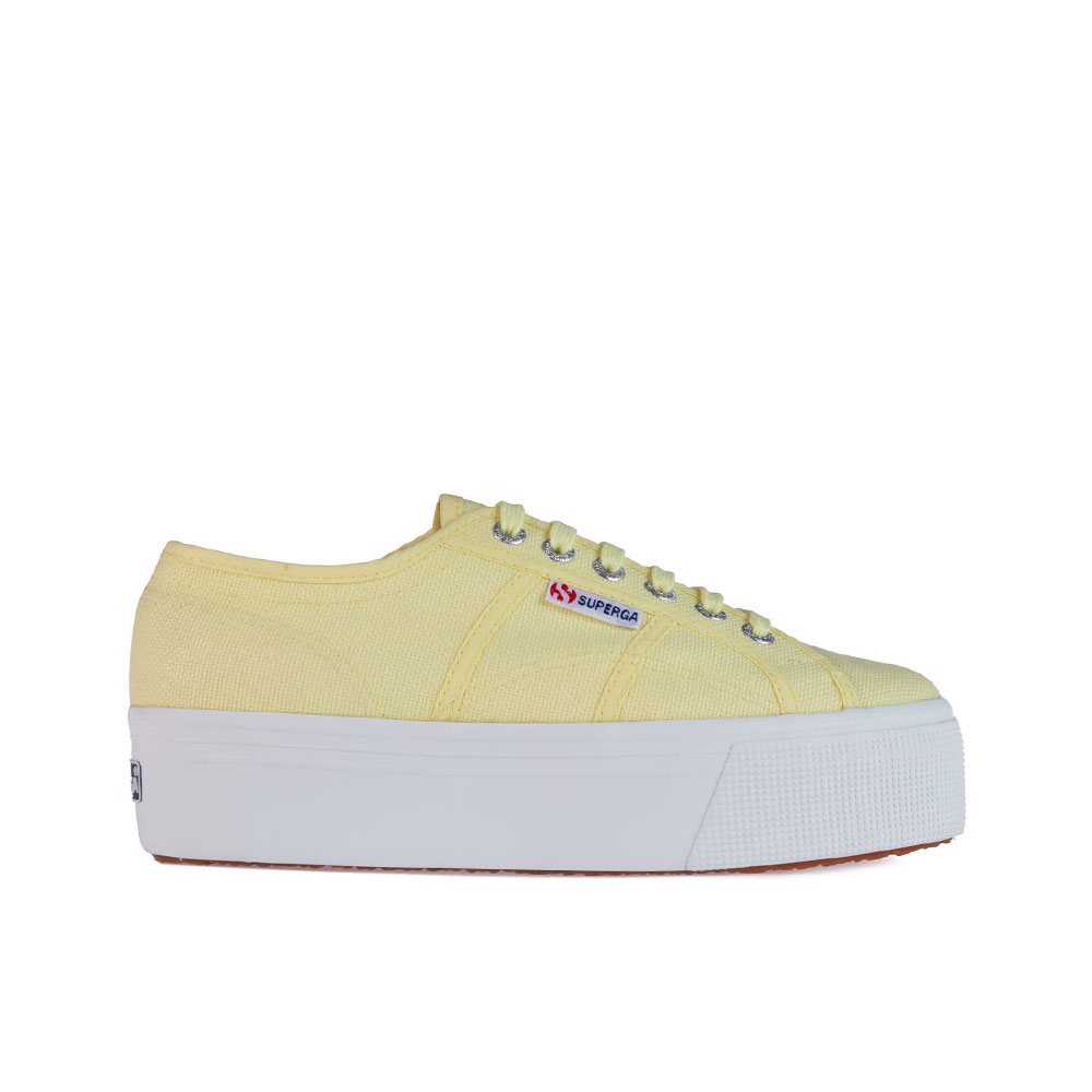 Superga Sneakers con Platform Linea Up Gialla da Donna