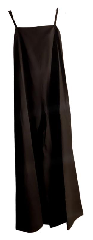 Tuta donna|cotone|nera| larga al fondo|spalline strette|Made in Italy
