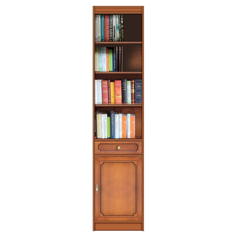 Bücherregal - 1 Tür und 1 Schublade