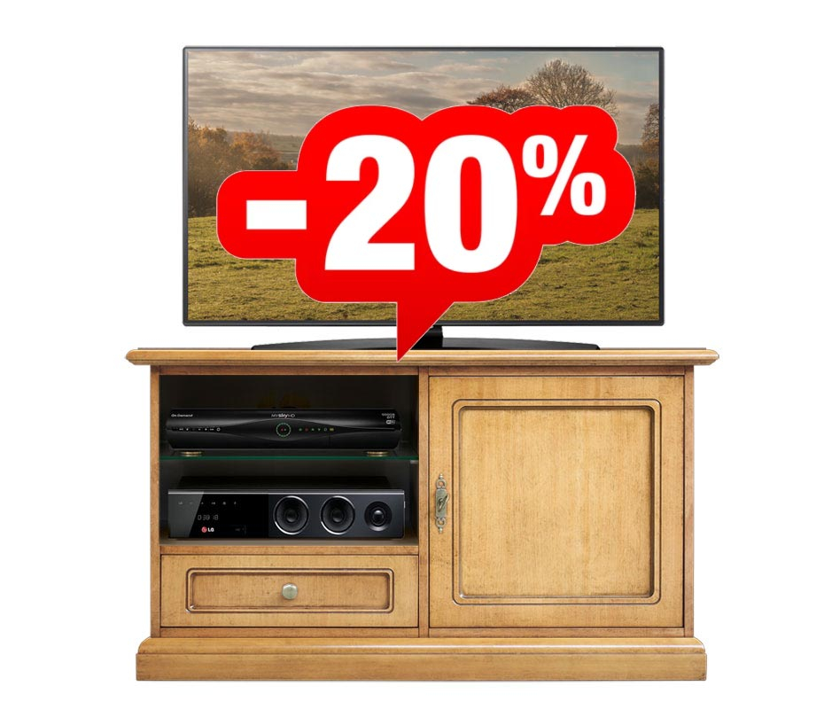 PROMO! Low TV cabinet with one door and one drawer
