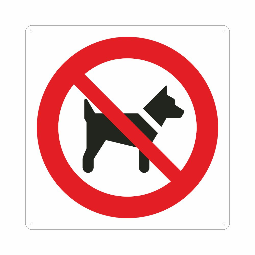 Cartello con simbolo vietato l'accesso ai cani