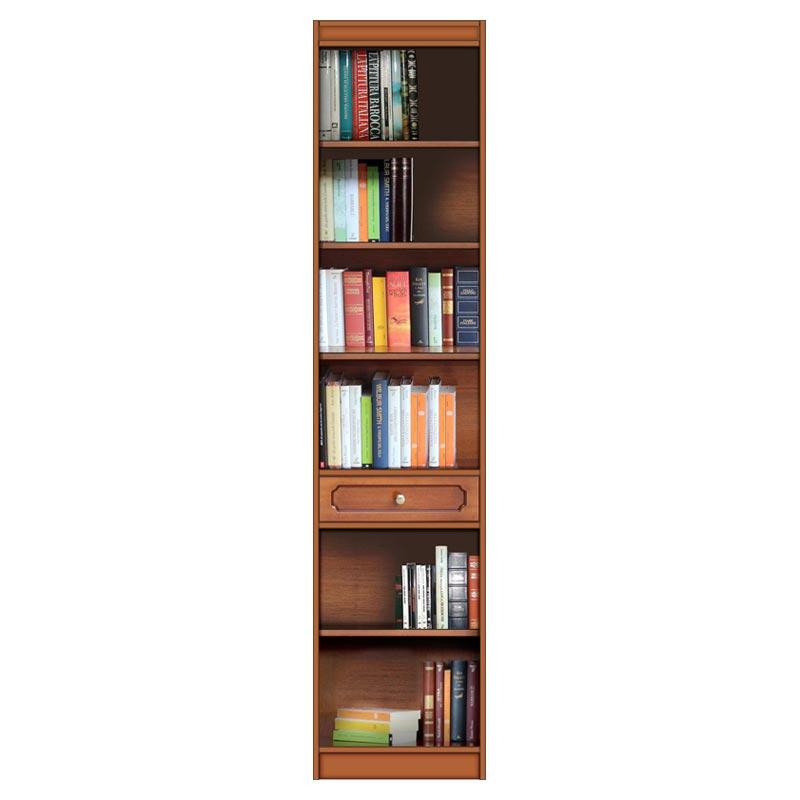 Librería modular ahorra-espacio con un cajón