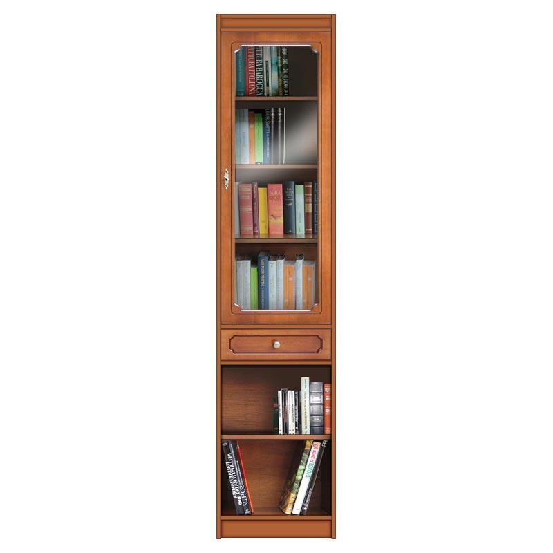 Librería modular ahorra-espacio con puerta de cristal
