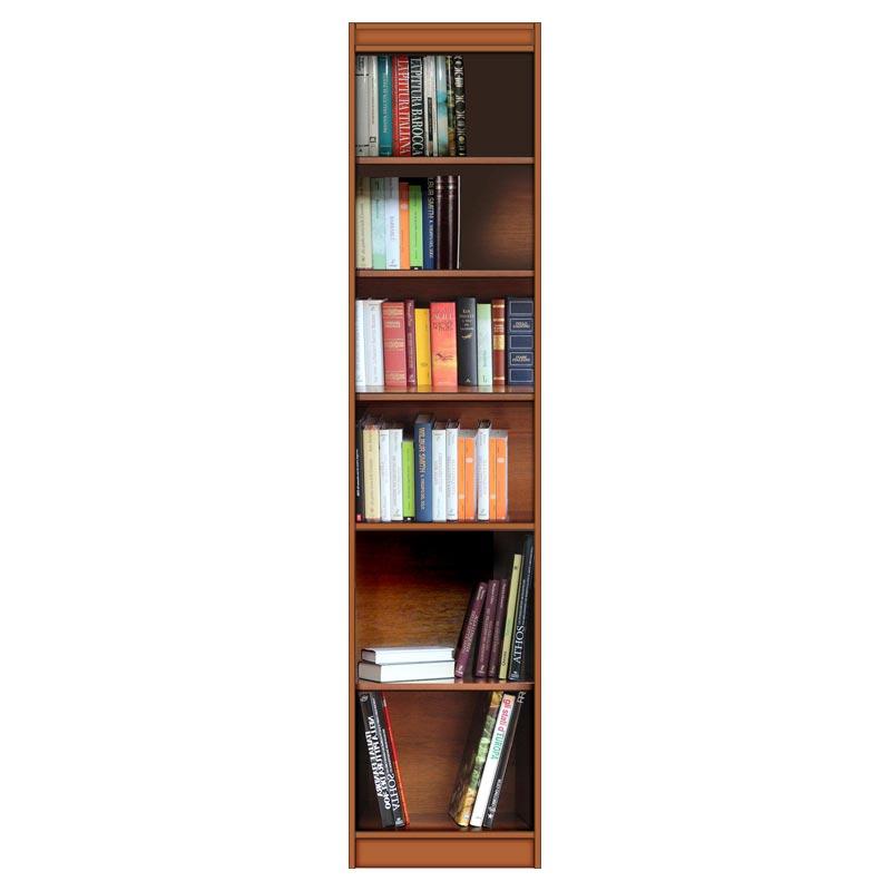 Librería modular ahorra espacio alta y estrecha