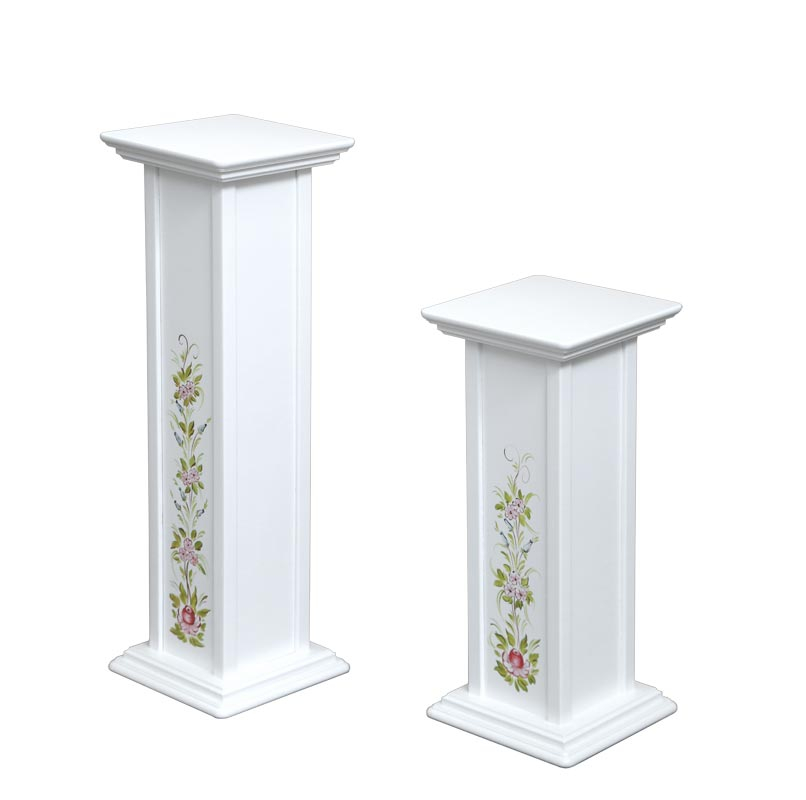 Decorated plant pedestal stand - height 60 and 80 cm