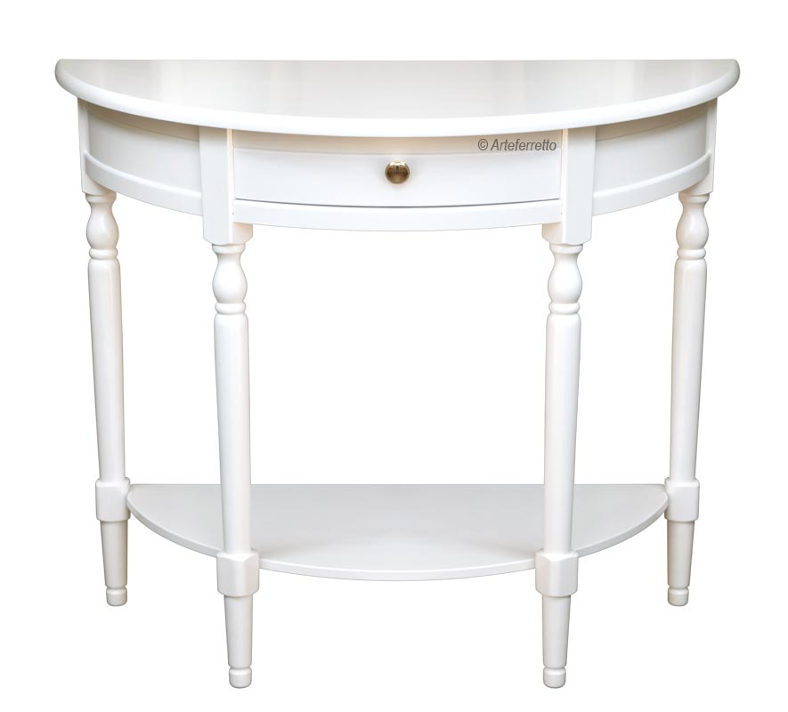 Lacquered console table with 1 drawer