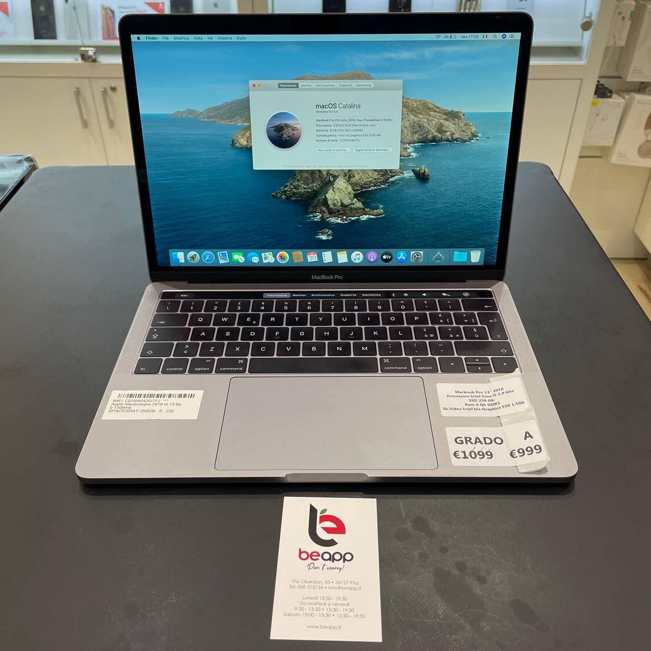 Apple MacBook Pro 2016 - intel® i5 - 13