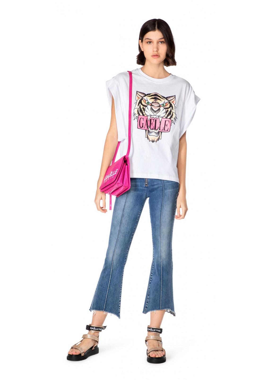 T-shirt in jersey giro manica donna Gaelle