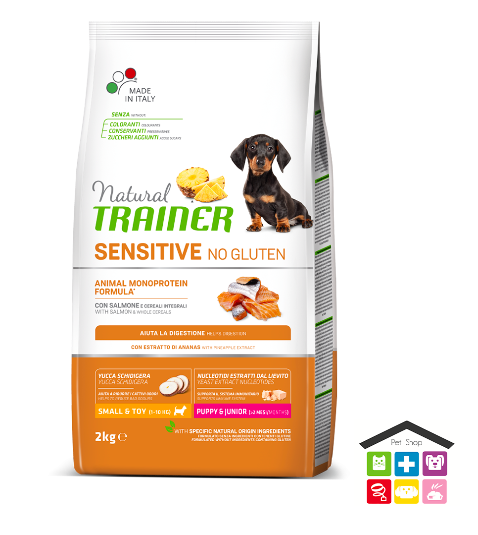 Natural trainer sensitive puppy 2kg salmone mini