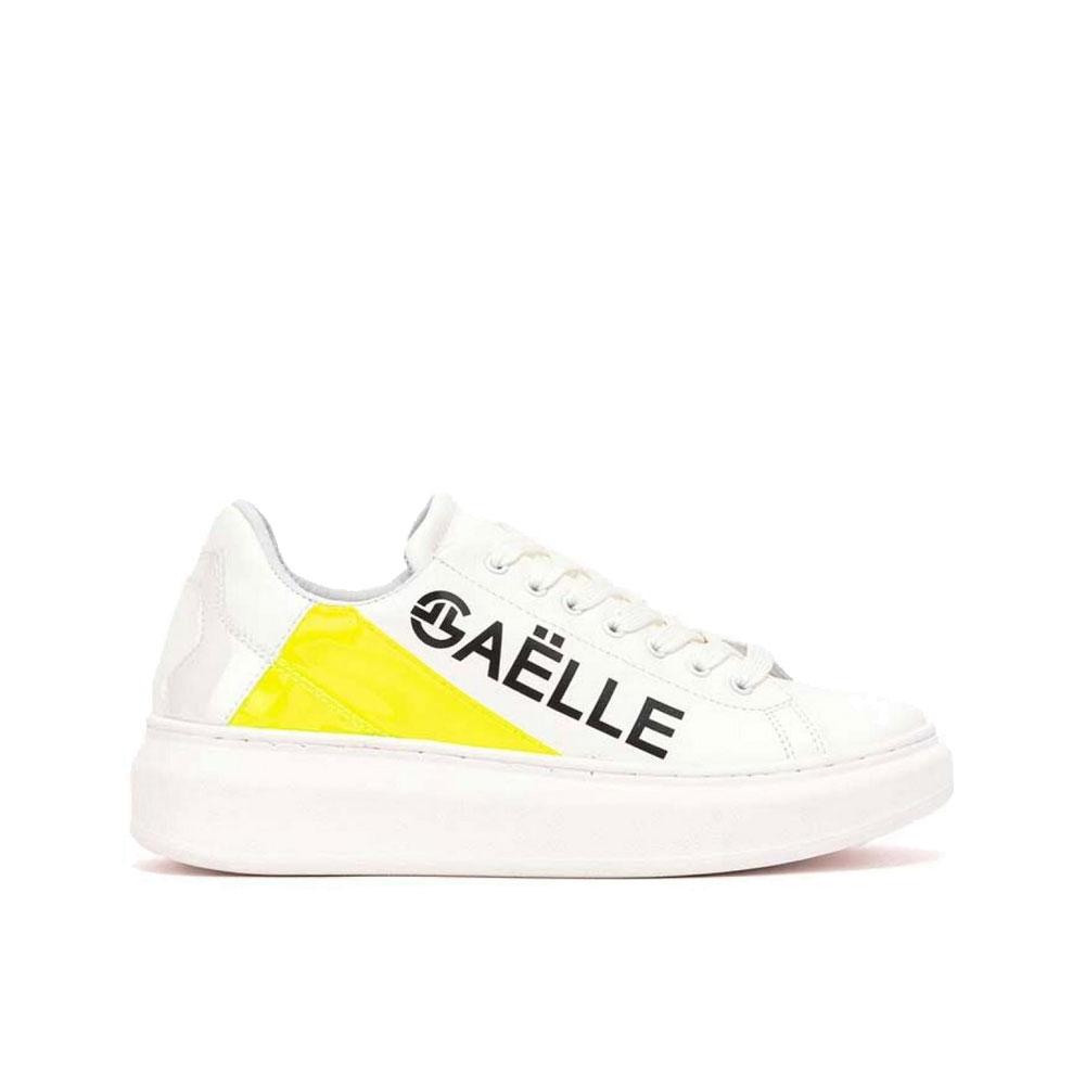 Gaelle Paris Sneakers con Scritta Bianca Gialla Unisex