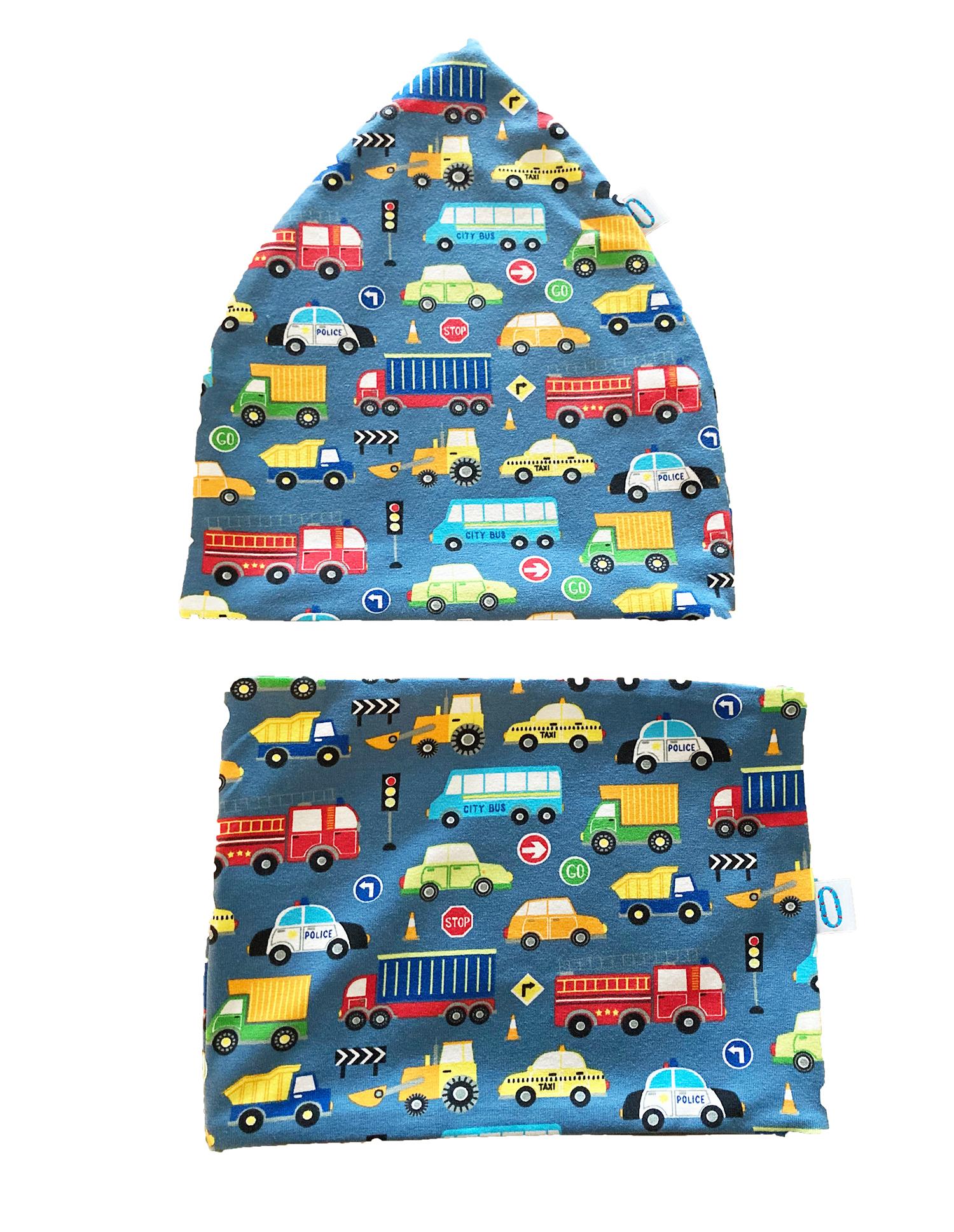 Set macchine cappello + paracollo in cotone