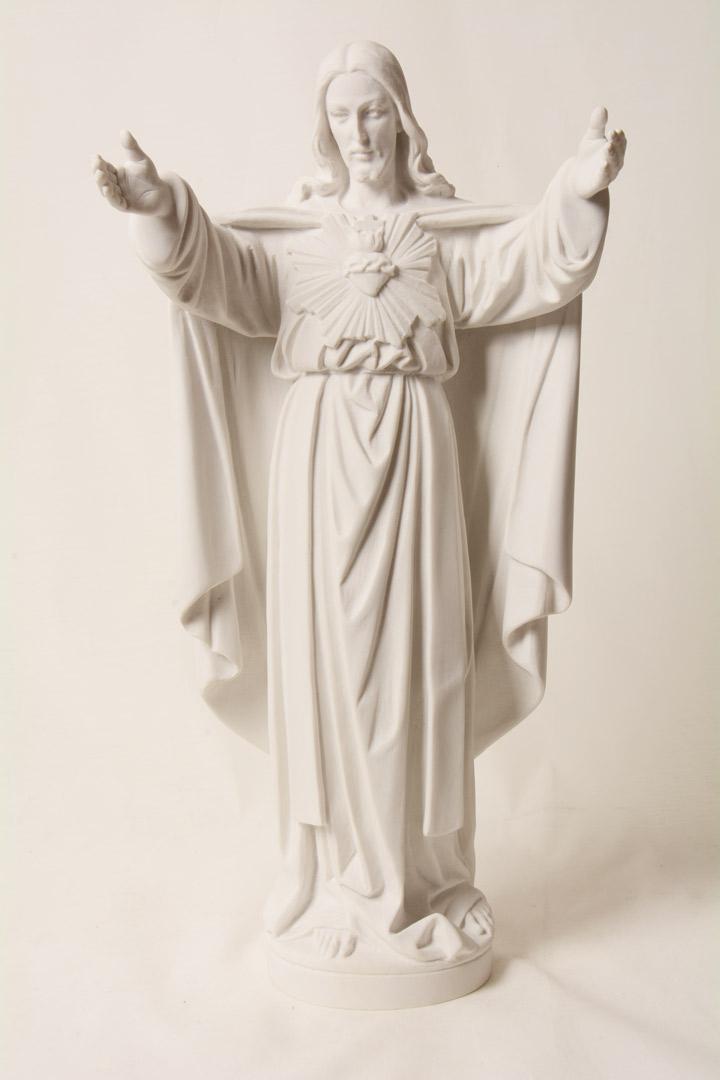 Statua S. Cuore in Polvere di Marmo cm 60