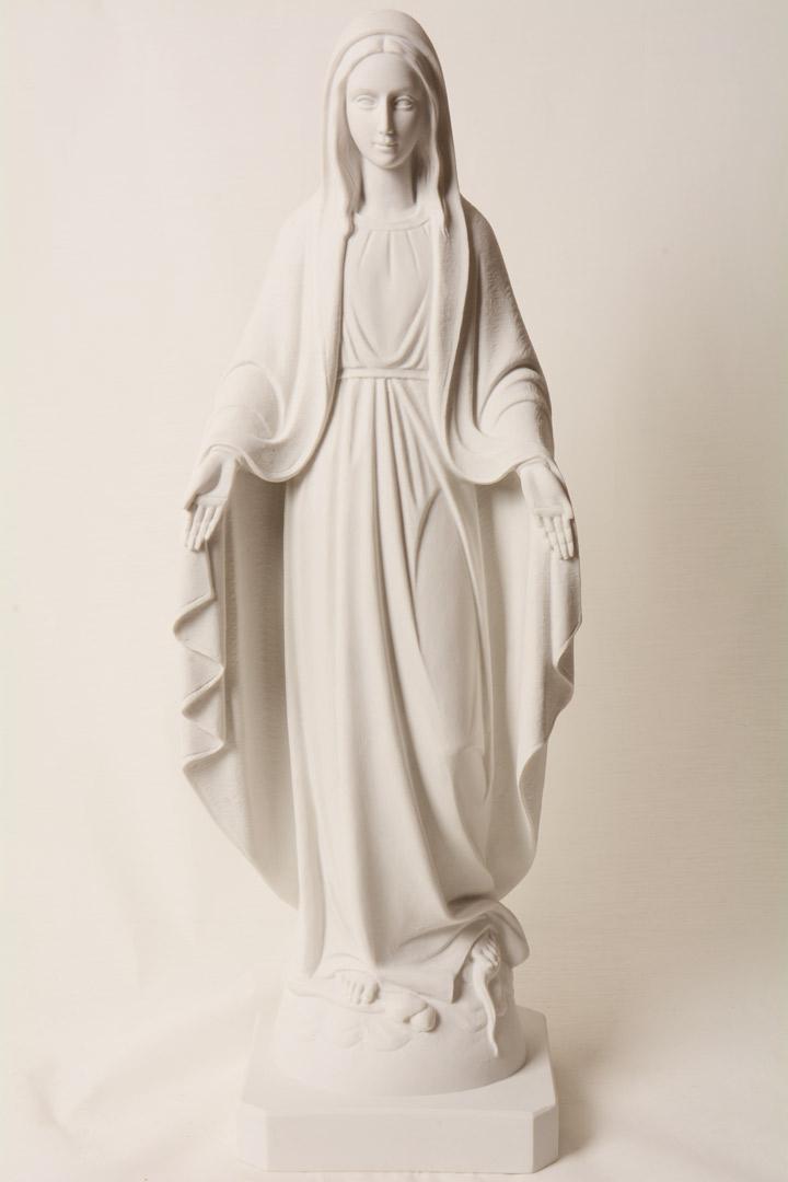 Statua Madonna Miracolosa in Polvere di Marmo cm 50