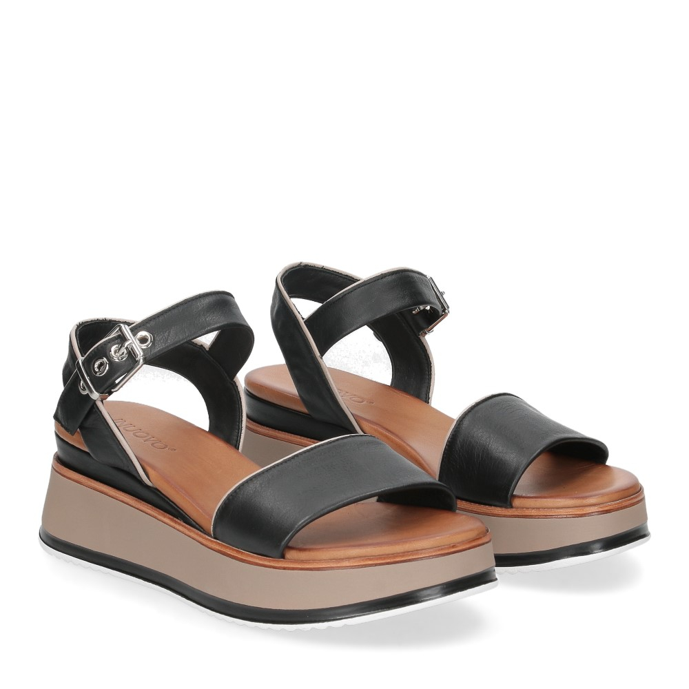 Inuovo sandalo 774011 pelle nera