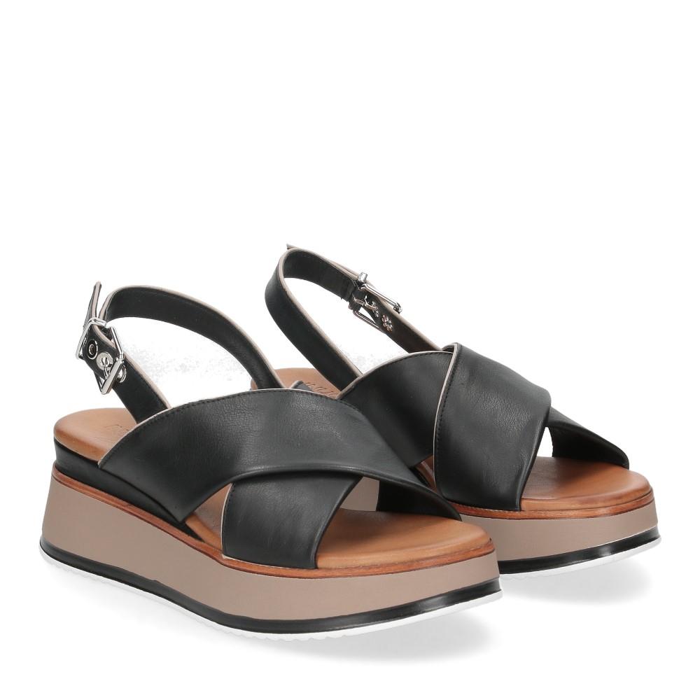 Inuovo Sandalo 774012 pelle nera