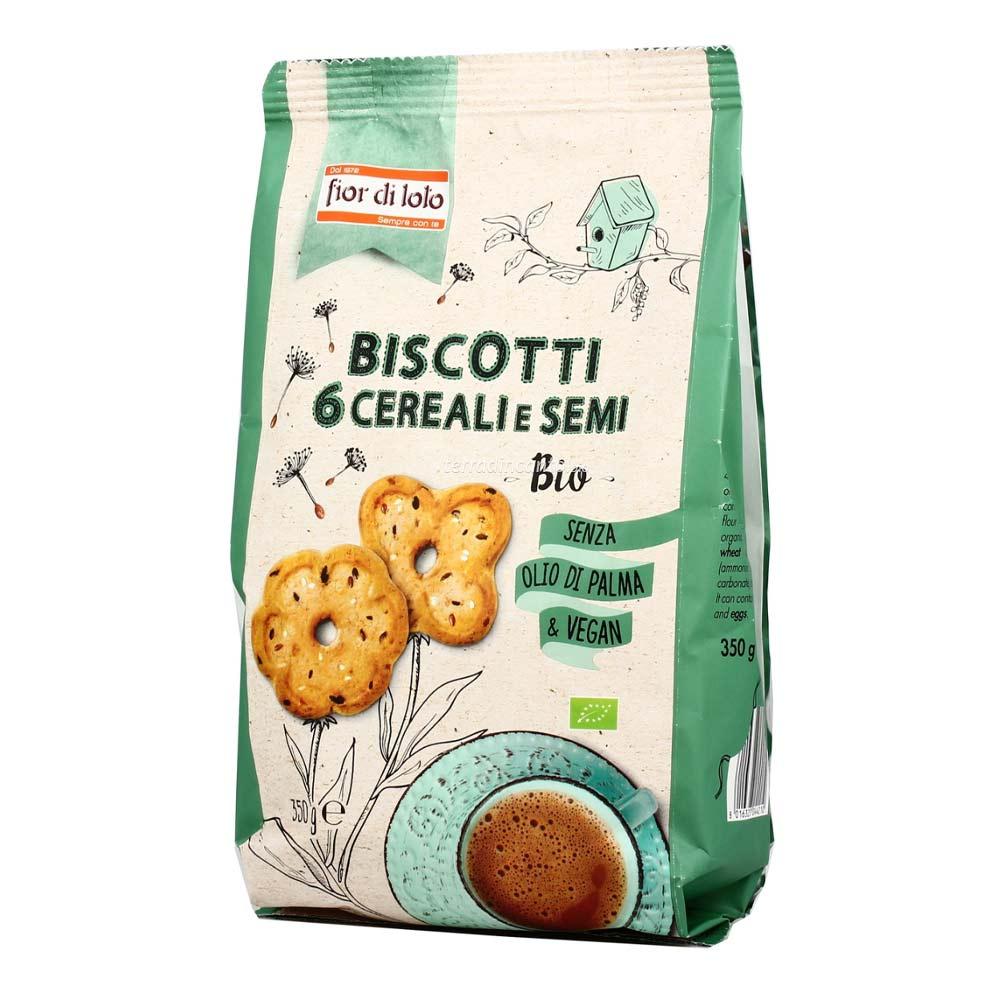 Biscotti ai 6 cereali e semi Fior di loto