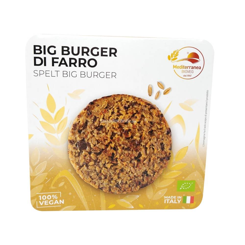Big Burger di Farro 150 gr Mediterranea