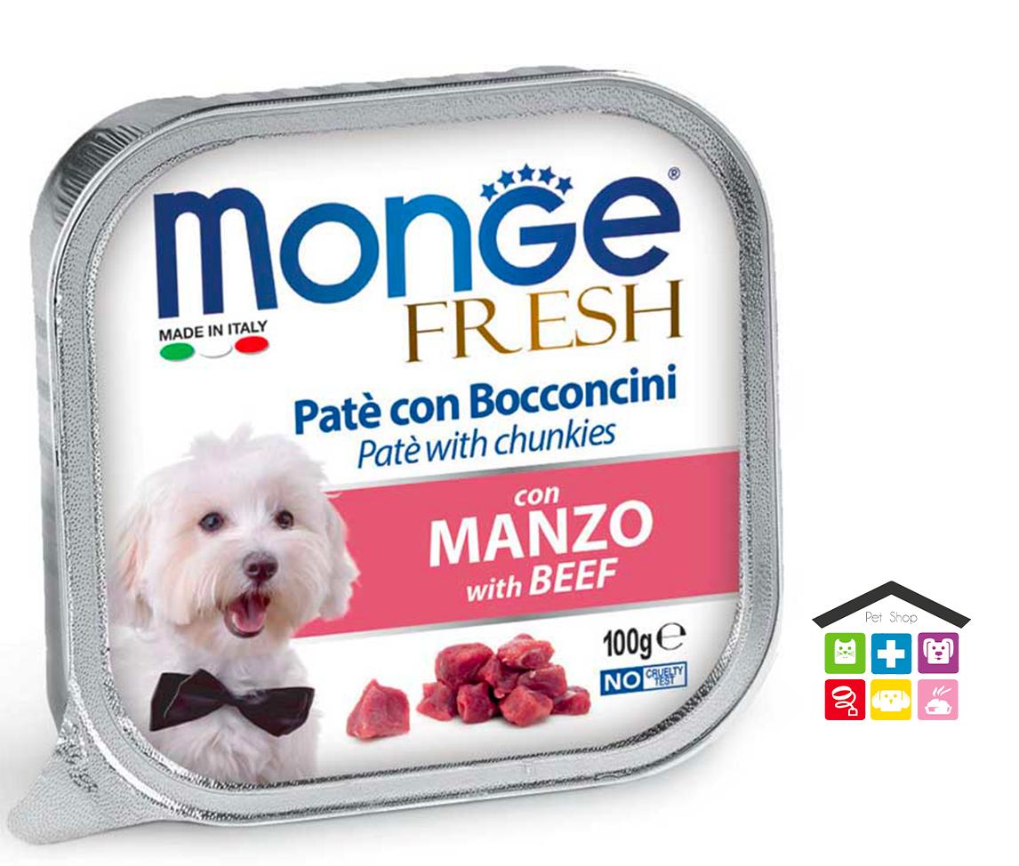 Monge fresh Paté e Bocconcini con Manzo 0,100g
