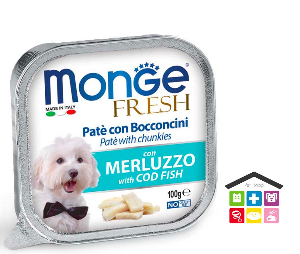 Monge fresh Paté e Bocconcini con Merluzzo 100g
