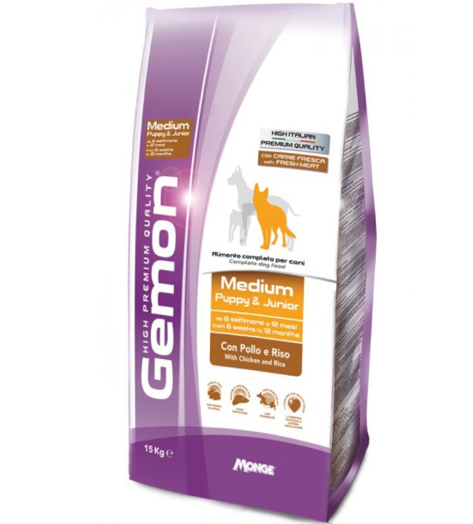 Gemon - Medium Puppy&Junior - Pollo - 15kg