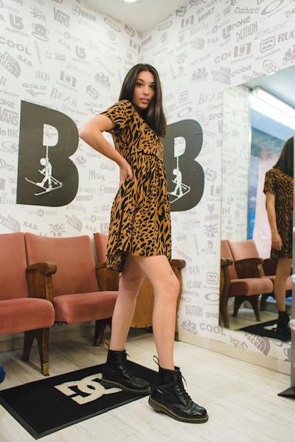 Vestito Obey Iggy Dress Ghepard