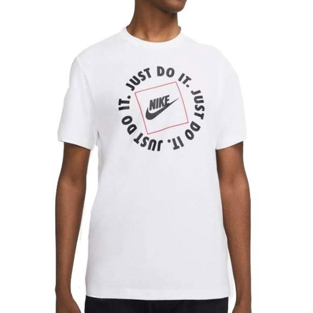 Nike T-Shirt Just Do It Bianca da Uomo