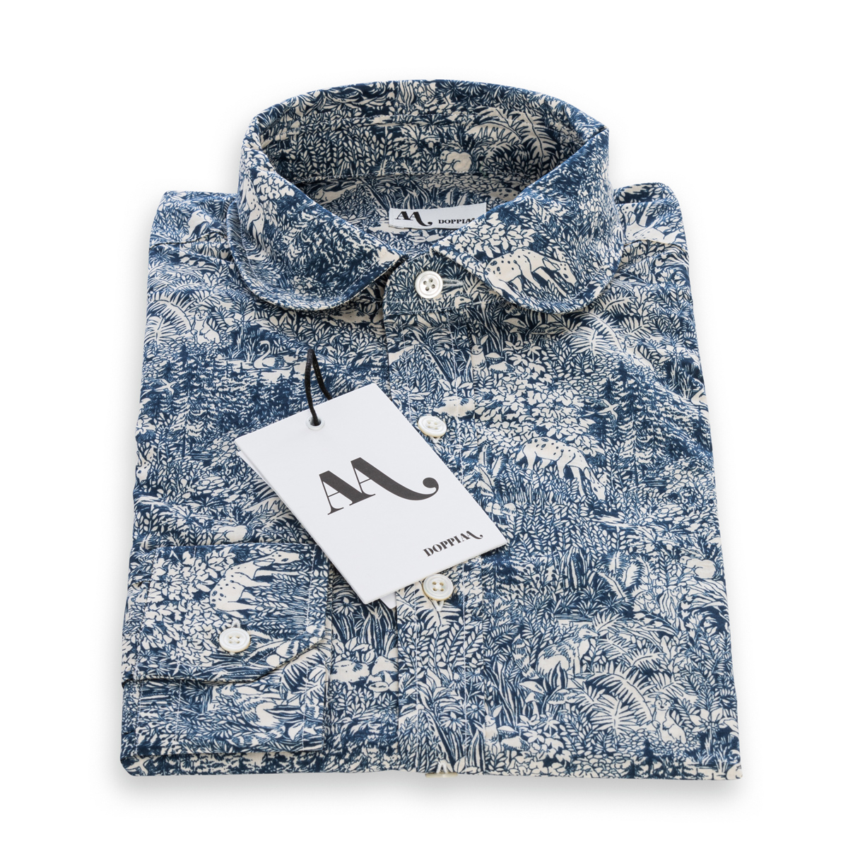 Camicia Doppiaa Aamberes Fantasia Blu