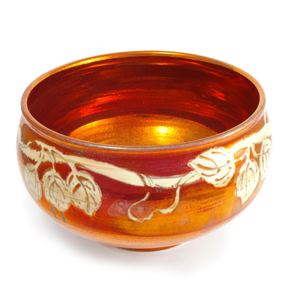 Centrotavola ciotola artigianale in ceramica di Faenza