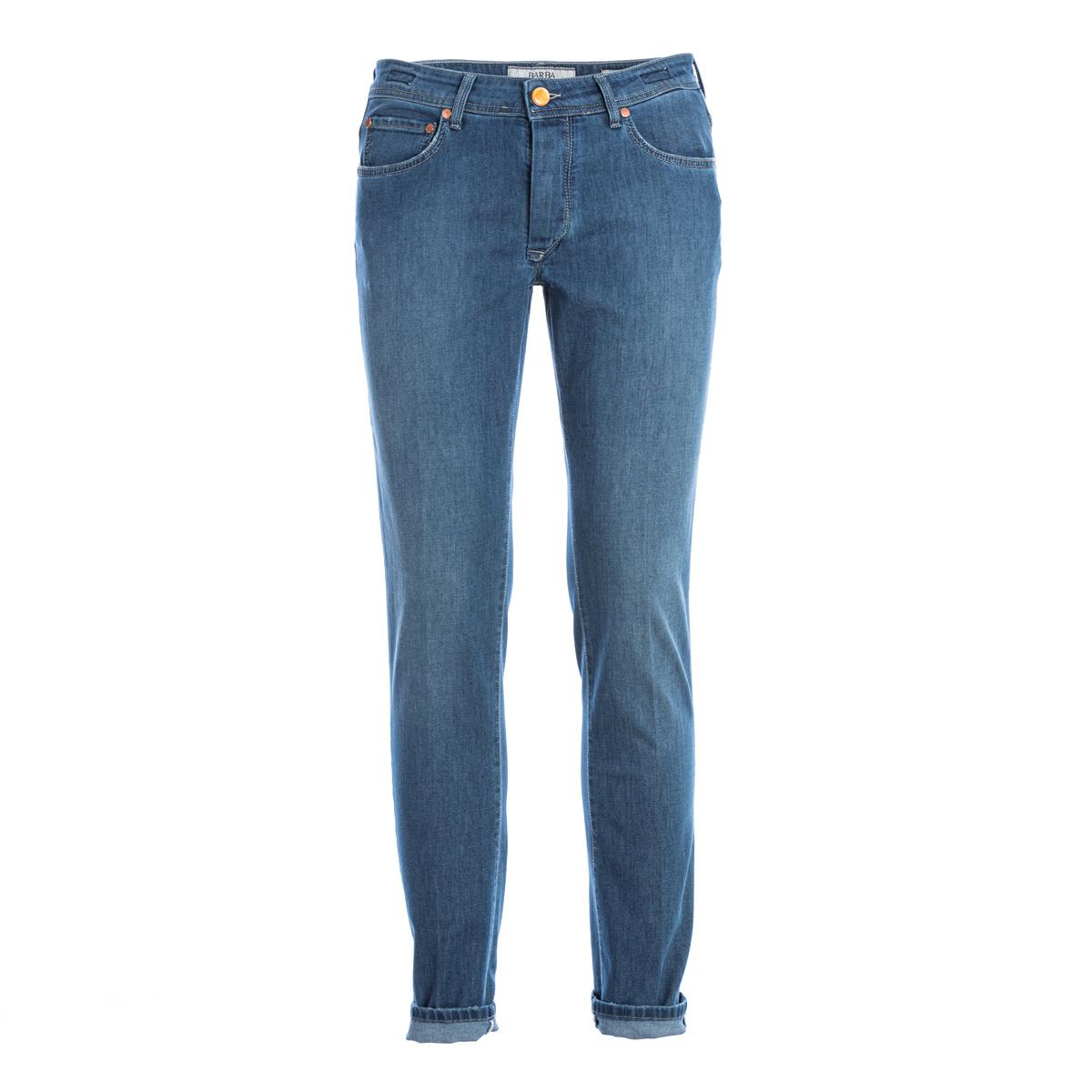 Jeans leggero 5 Tasche Barba Napoli Chiaro