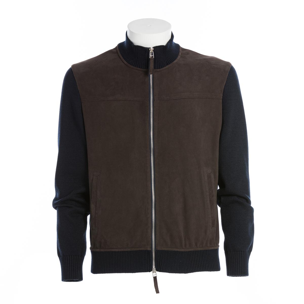 Giubbotto Bi-Materiale Camoscio e Maglia The Jack Leathers