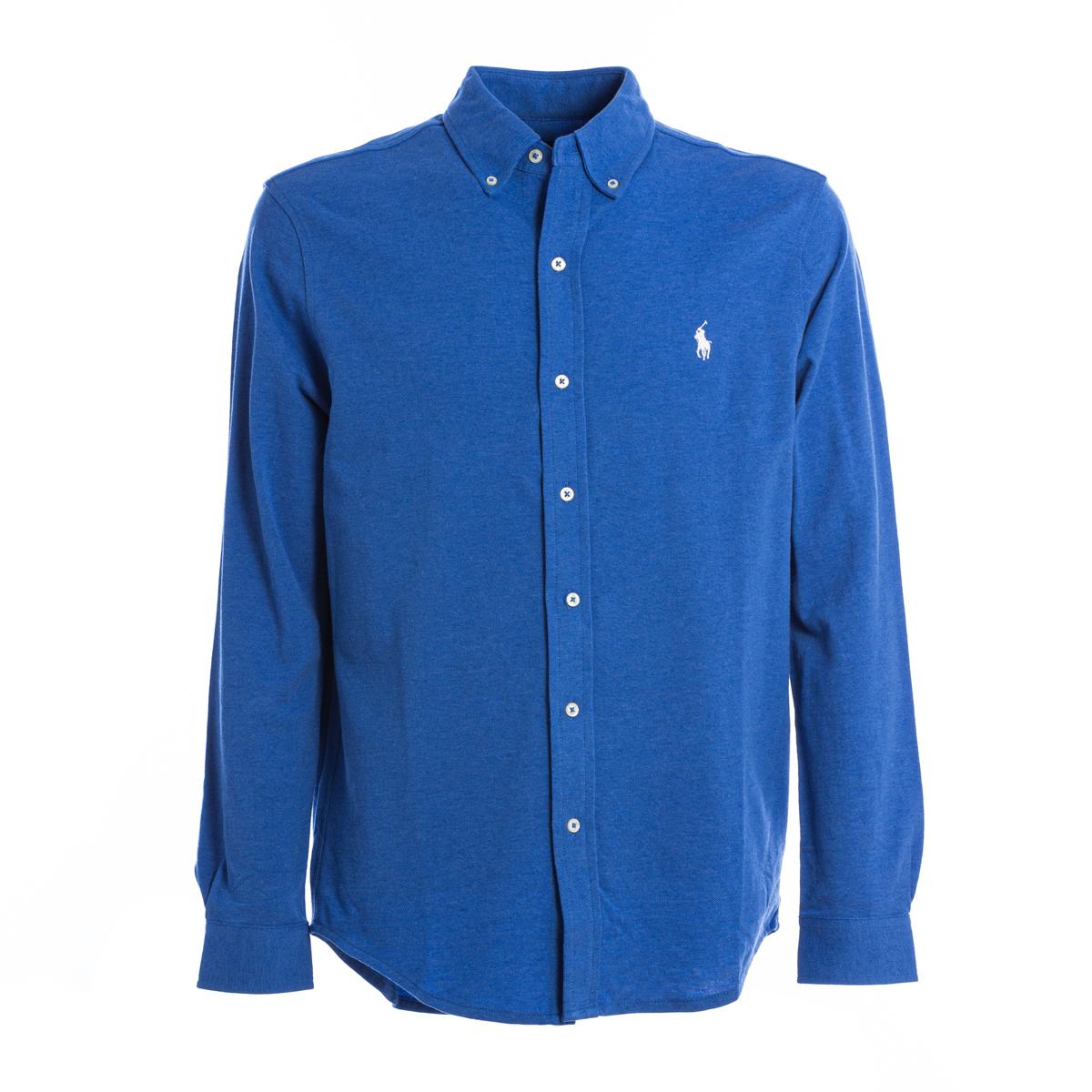Polo Camicia Jersey Polo Ralph Lauren Azzurro intenso