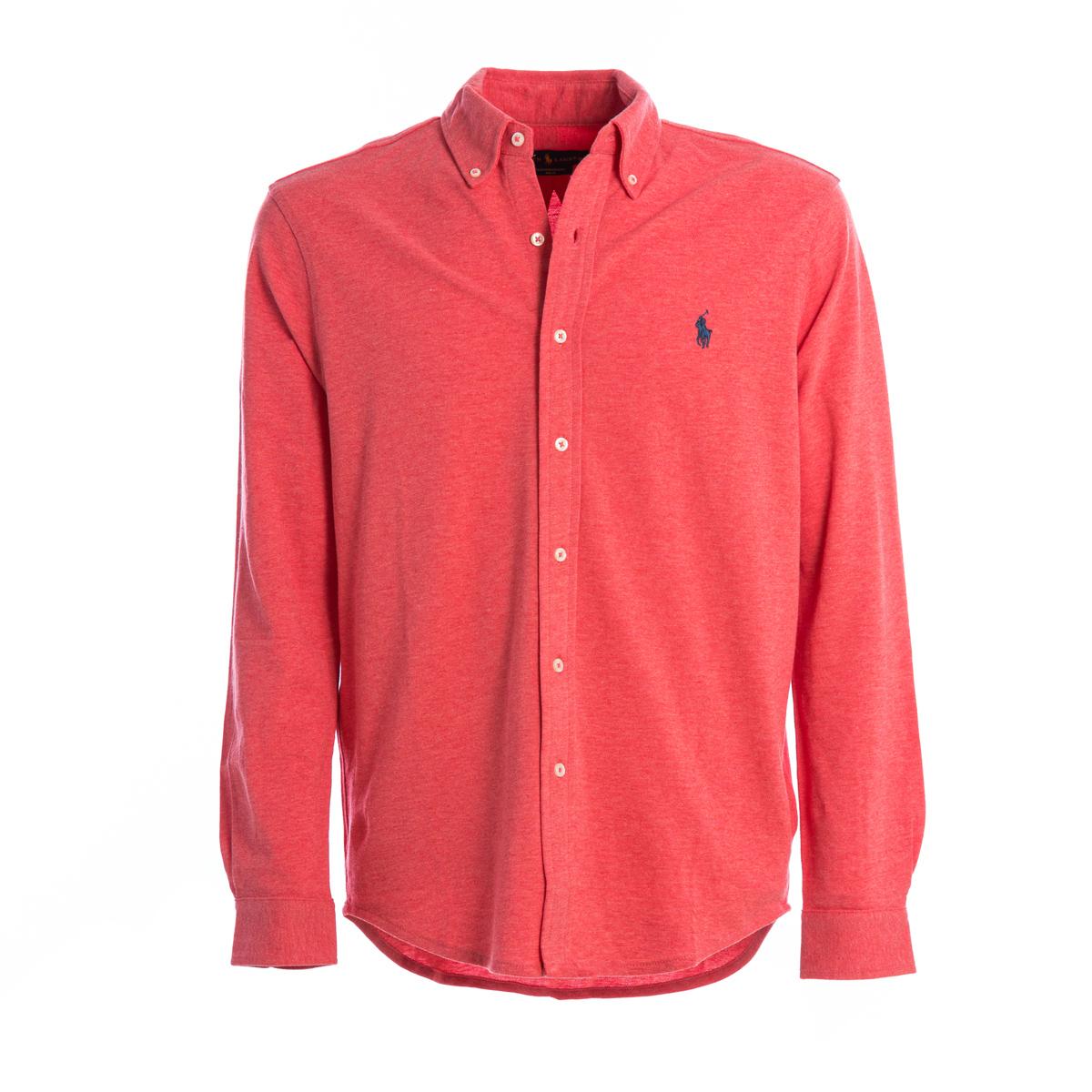 Polo Camicia Jersey Polo Ralph Lauren Corallo