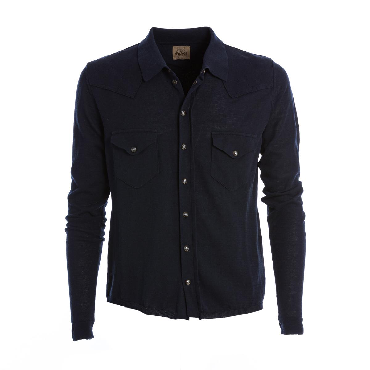 Camicia Texas in maglia Blu Rakkì