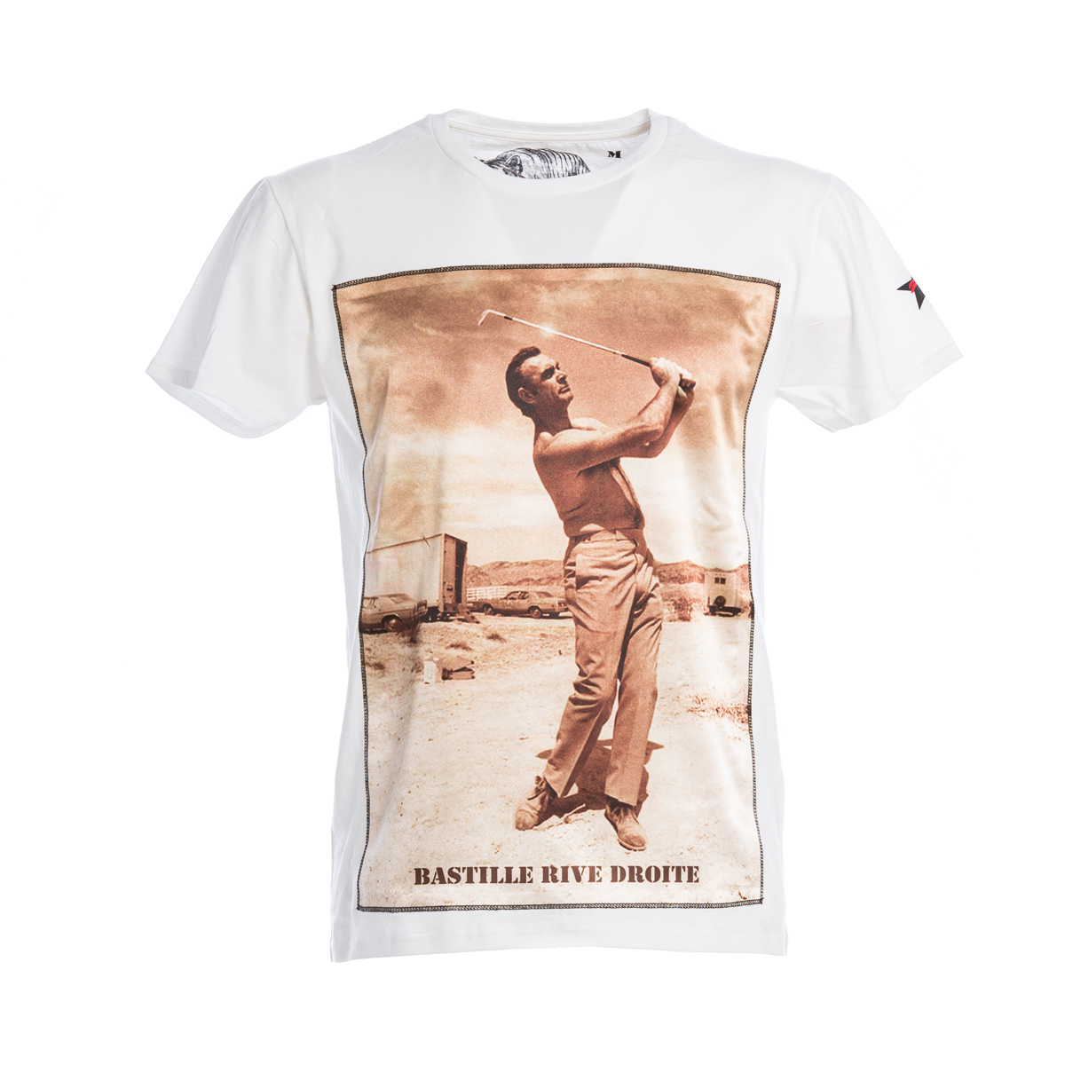 T-Shirt Bastille Bianca Stampa Sean Connery