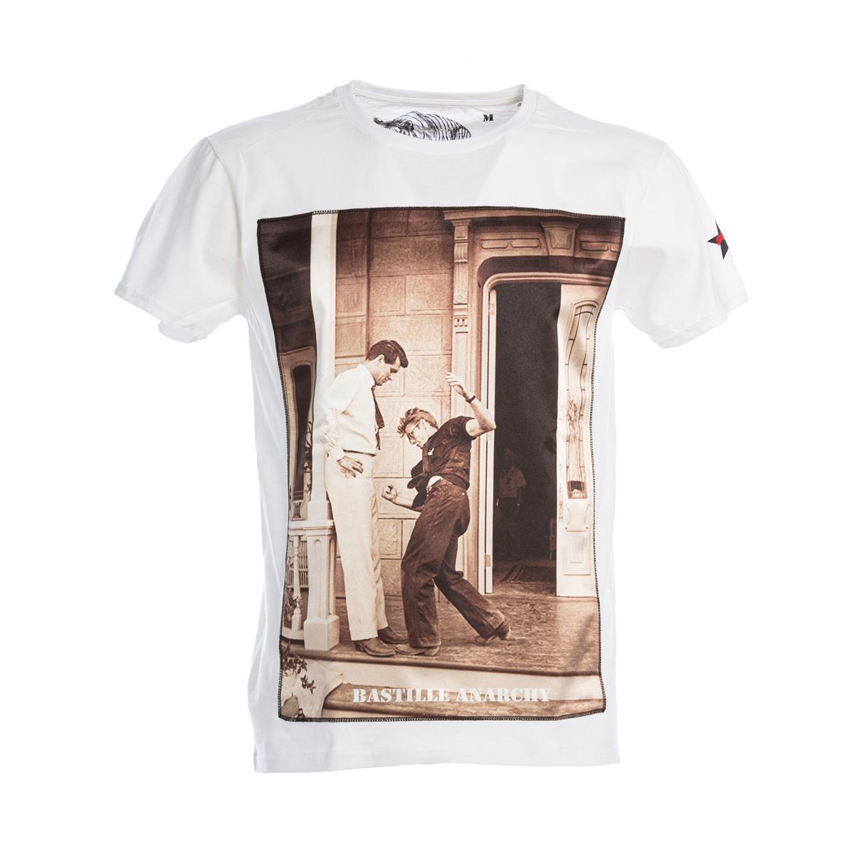 T-Shirt Bastille Bianca Stampa Rissa