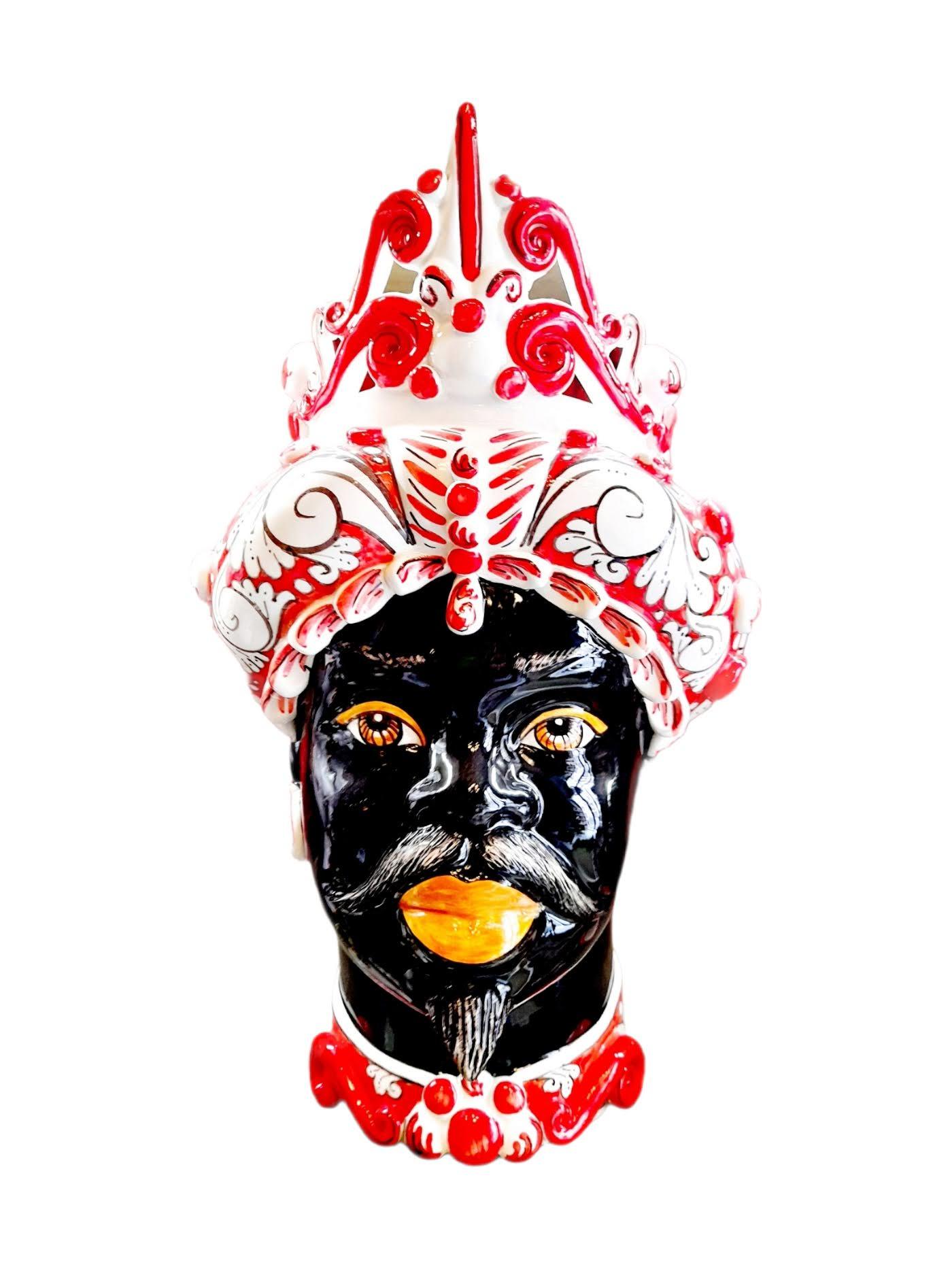 Testa di Moro Con Turbante Rosso e Bianco, Uomo Verus