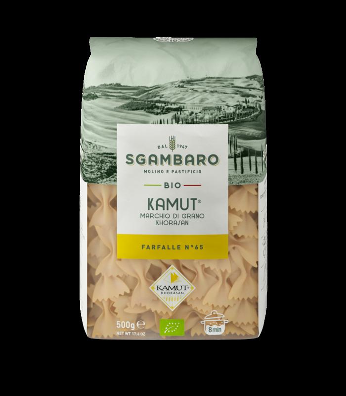 SGAMBARO Pasta Bio Kamut Farfalle N°65 GR.500