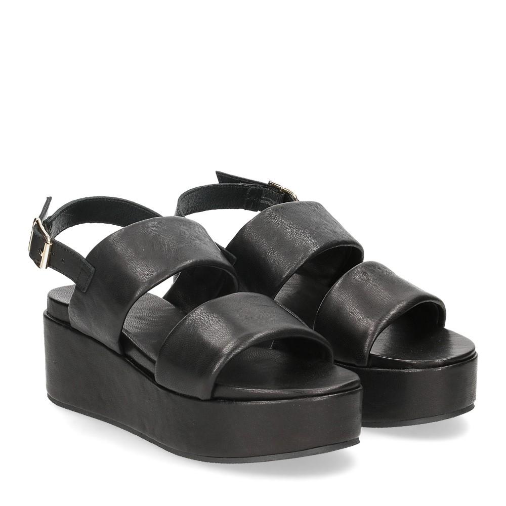 Il Laccio sandalo GL9 pelle nera