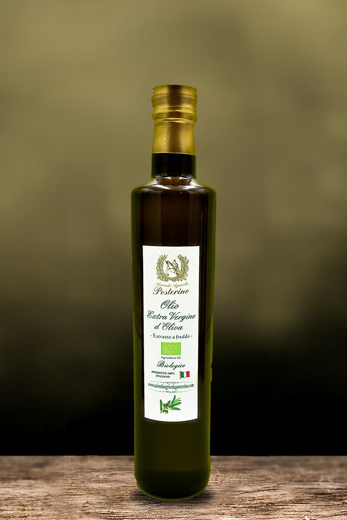 Olio Extravergine d'oliva biologico estratto a freddo 100% Ita ml 500