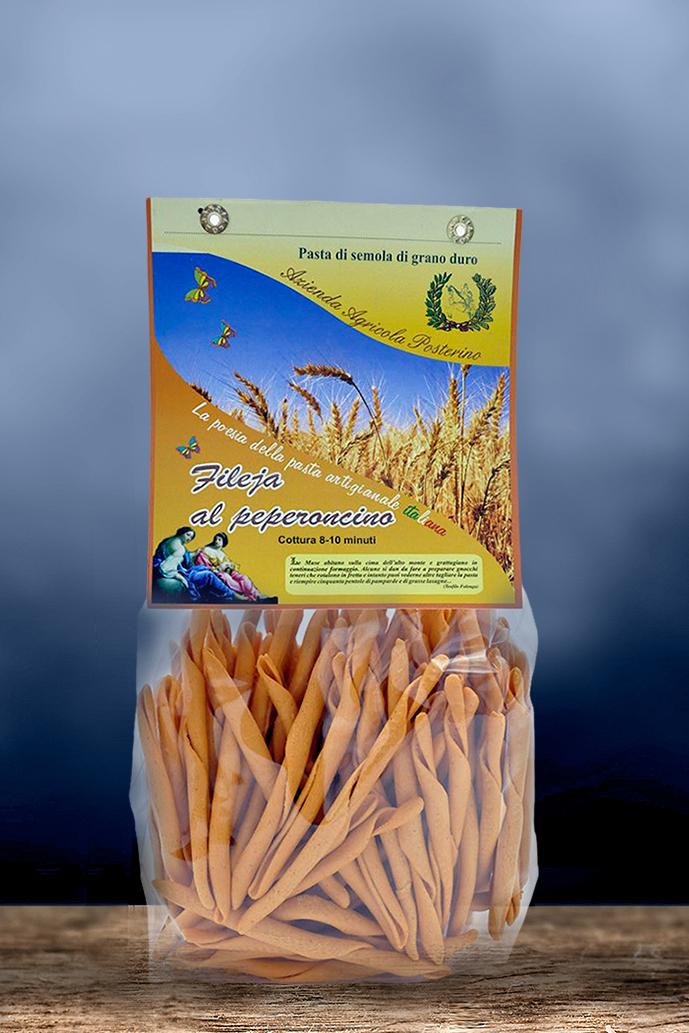 Fileja artigianali al Peperoncino al ferretto 100% ita gr 500