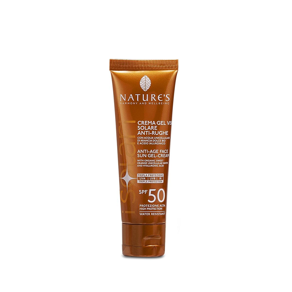 Crema-gel viso Solare Antirughe SPF50