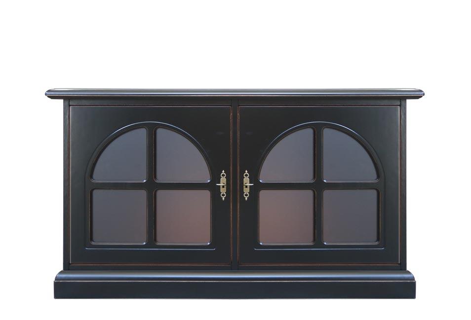 Low sideboard with 2 doors 'Dark'