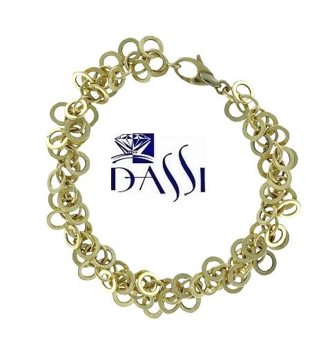 Bracciale in oro giallo 18kt massiccio, composto da una miriade di anelli