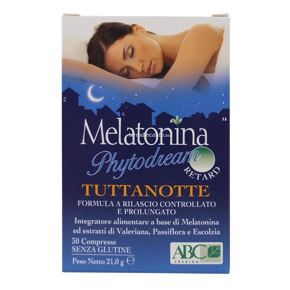 Melatonina TuttaNotte Retard ABC Trading 30 Compresse