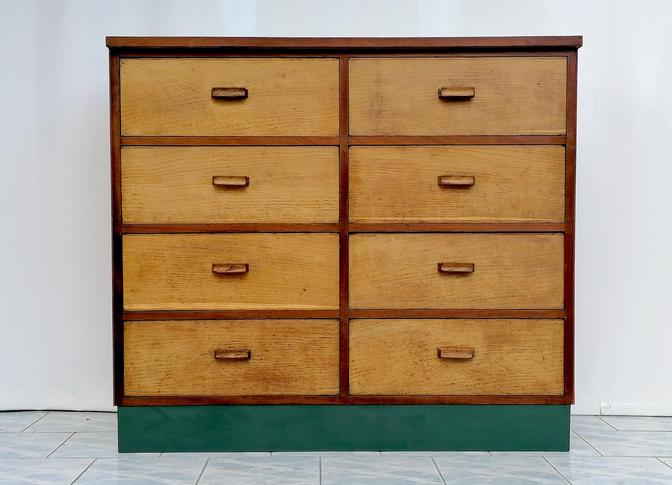 Cassettiera vintage legno anni '60