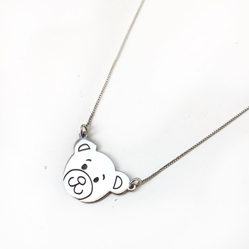 Collana con orsetto in argento 925