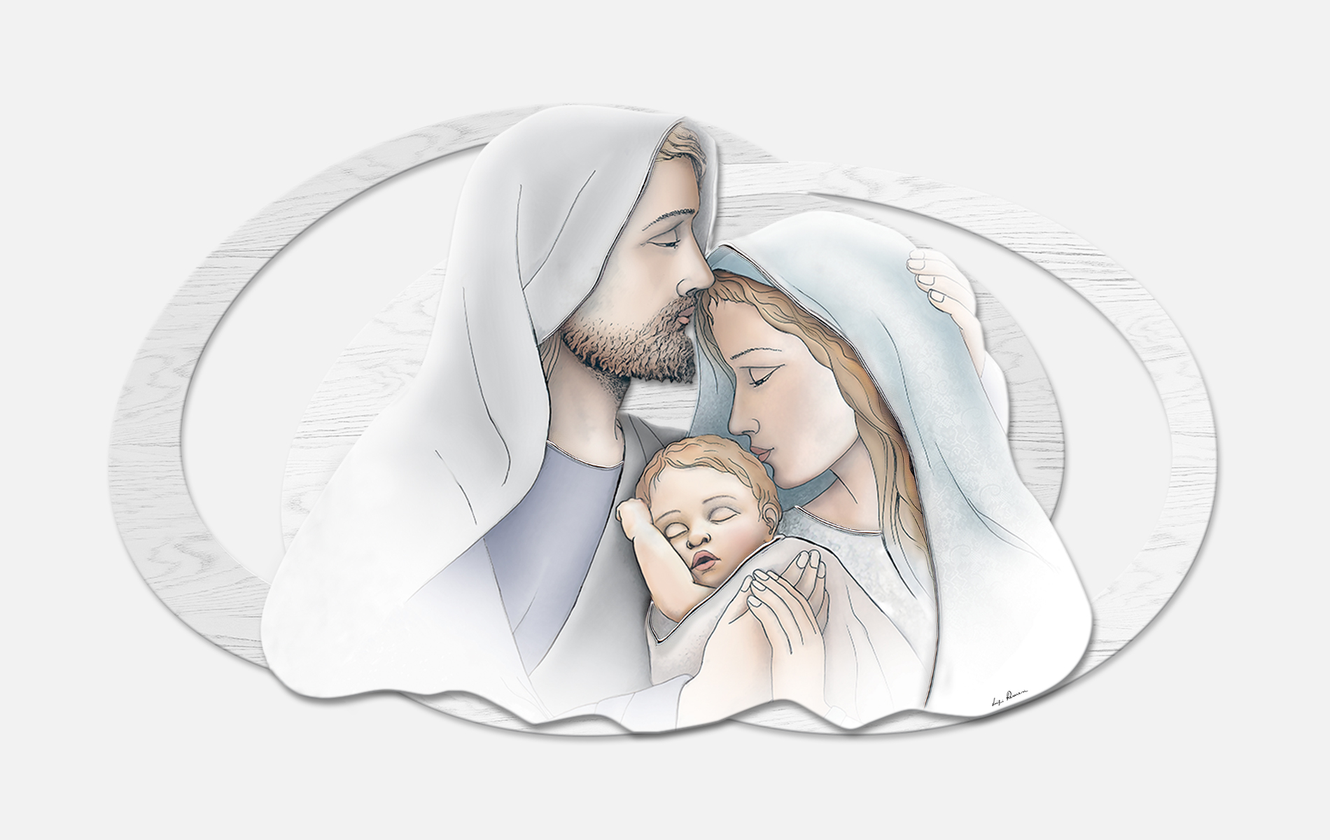Capoletto moderno  Sacra Famiglia Estego a doppio livello 0515170.3